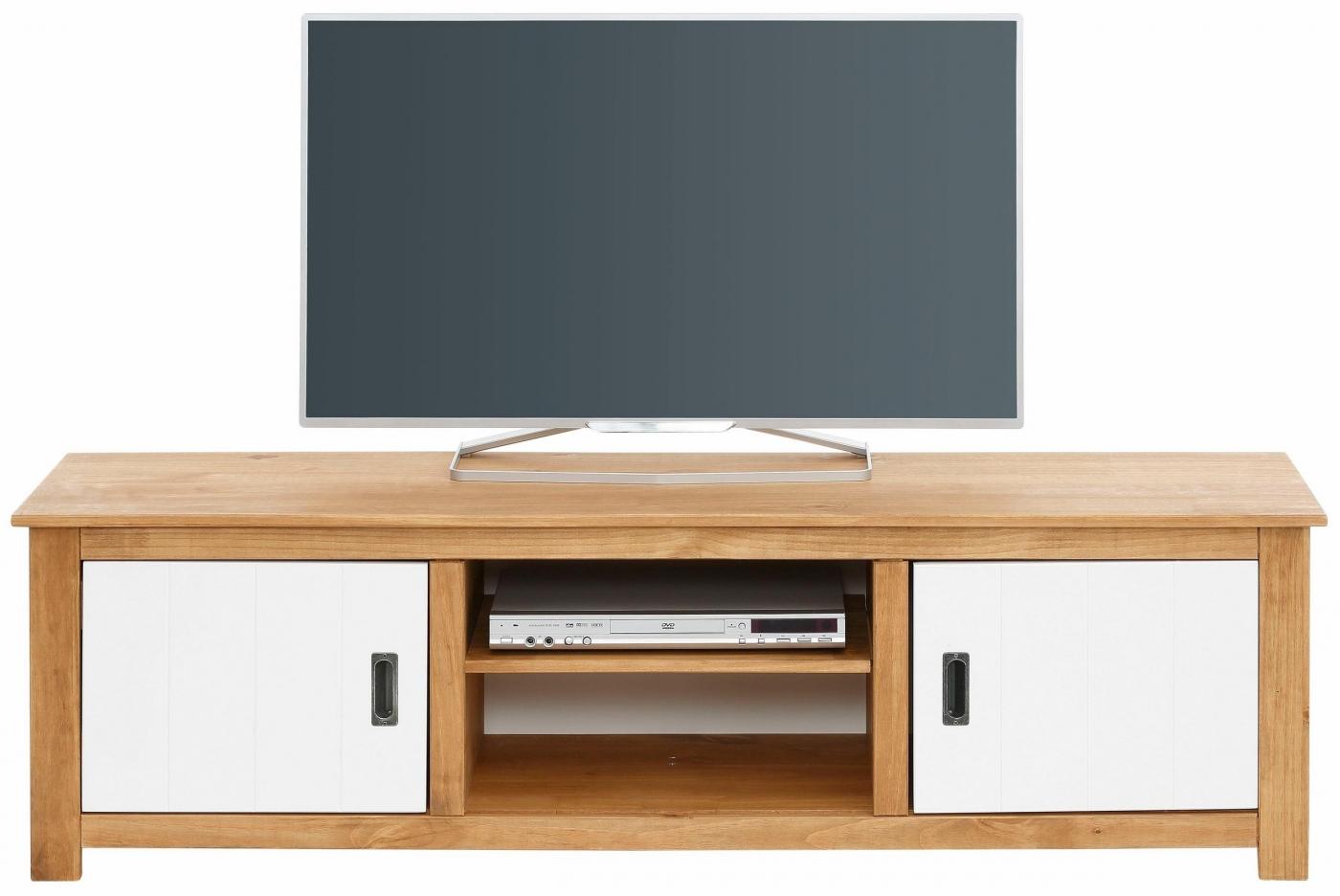 Tv stolek Ari, 158 cm, borovice / bílá