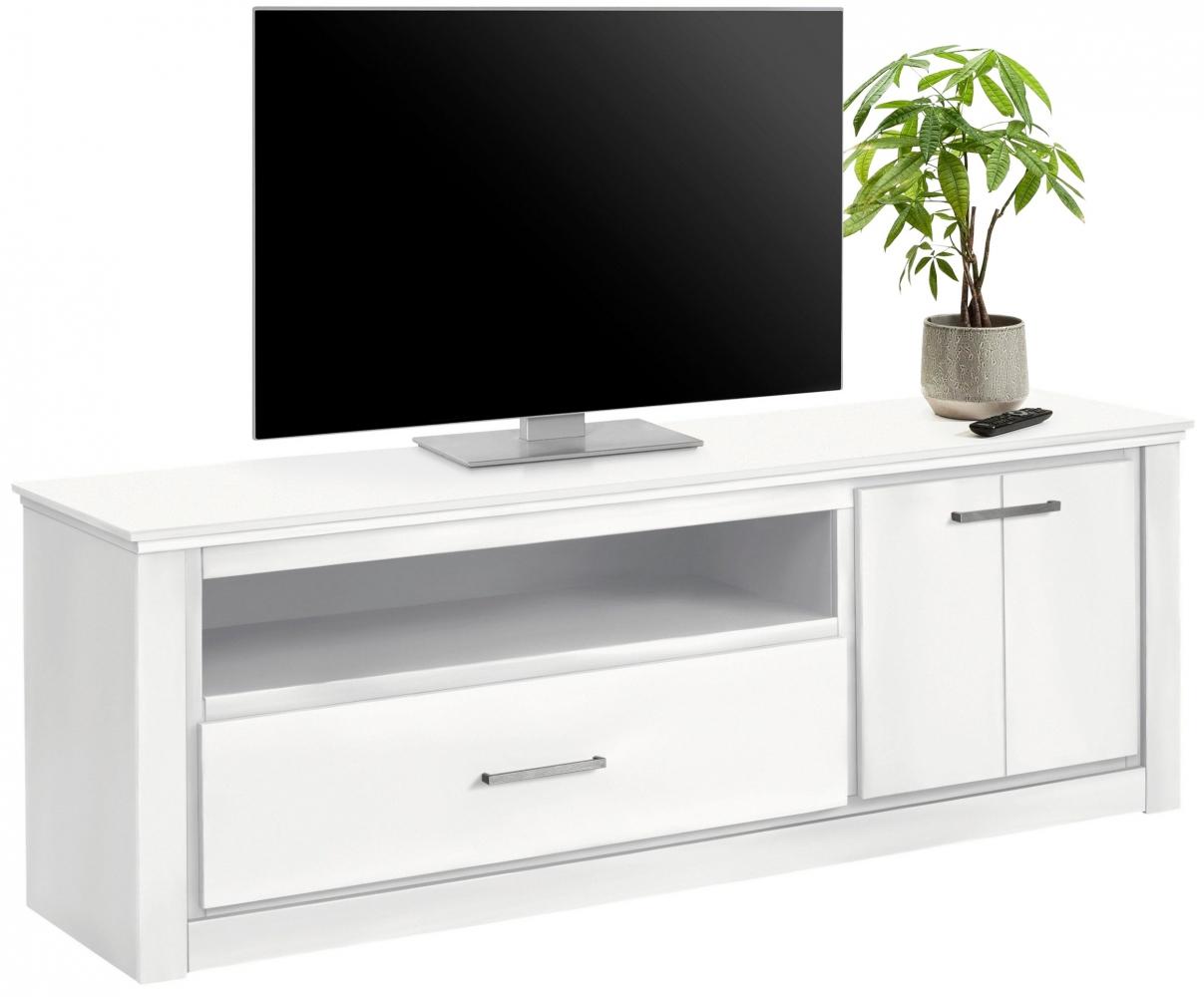 Tv stolek Cali, 160 cm, bílá