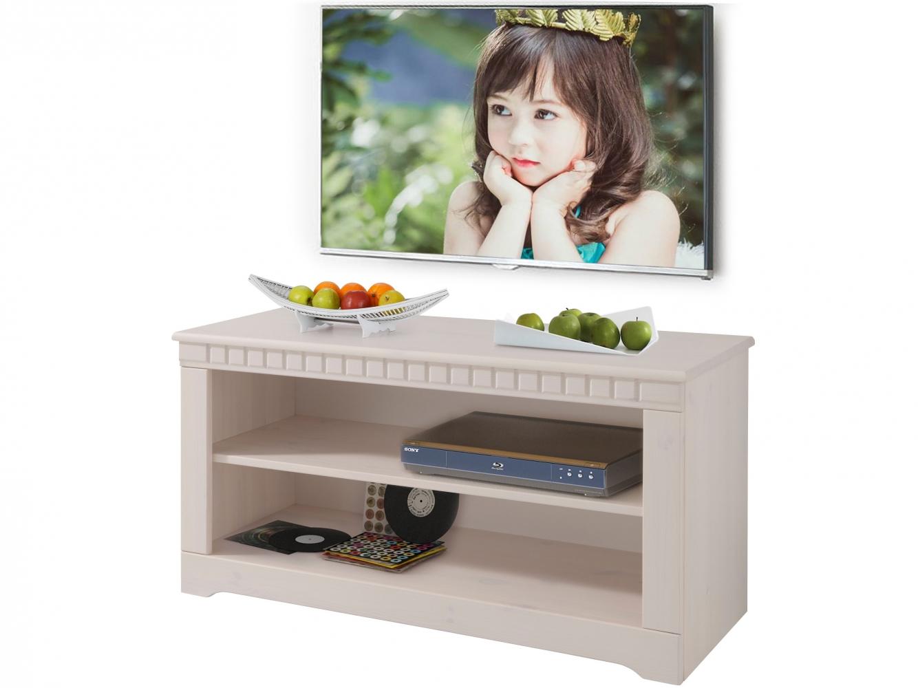 Tv stolek Clare, 94 cm, bílá
