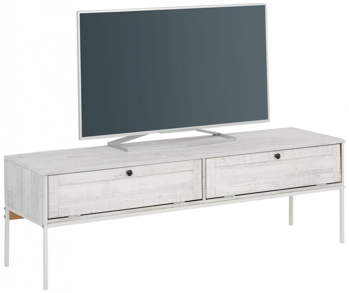 Tv stolek Fray, 140 cm, bílá