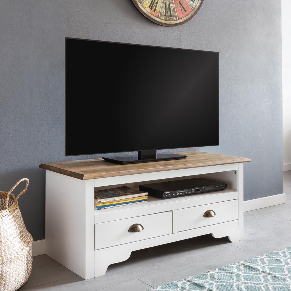 TV stolek Lenna, 100 cm, bílá