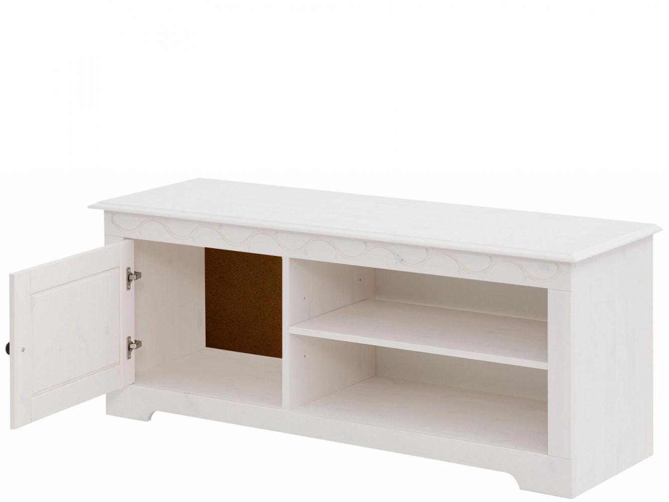Tv stolek Londa, 125 cm, bílá