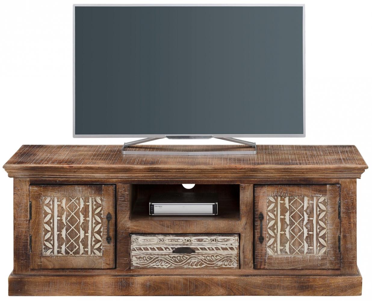 Tv stolek Malik, 135 cm, masivní dřevo