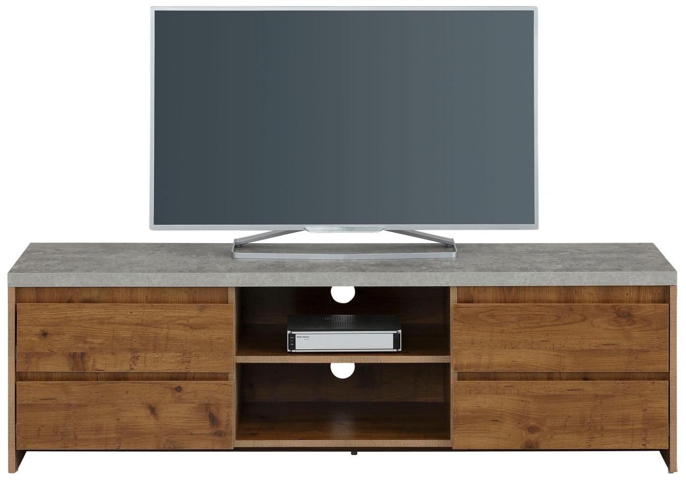 TV stolek Mecan, 150 cm, beton / dub