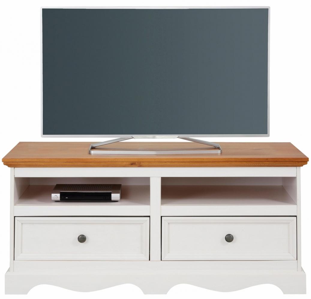 Tv stolek Meliss, 120 cm, bílá / borovice