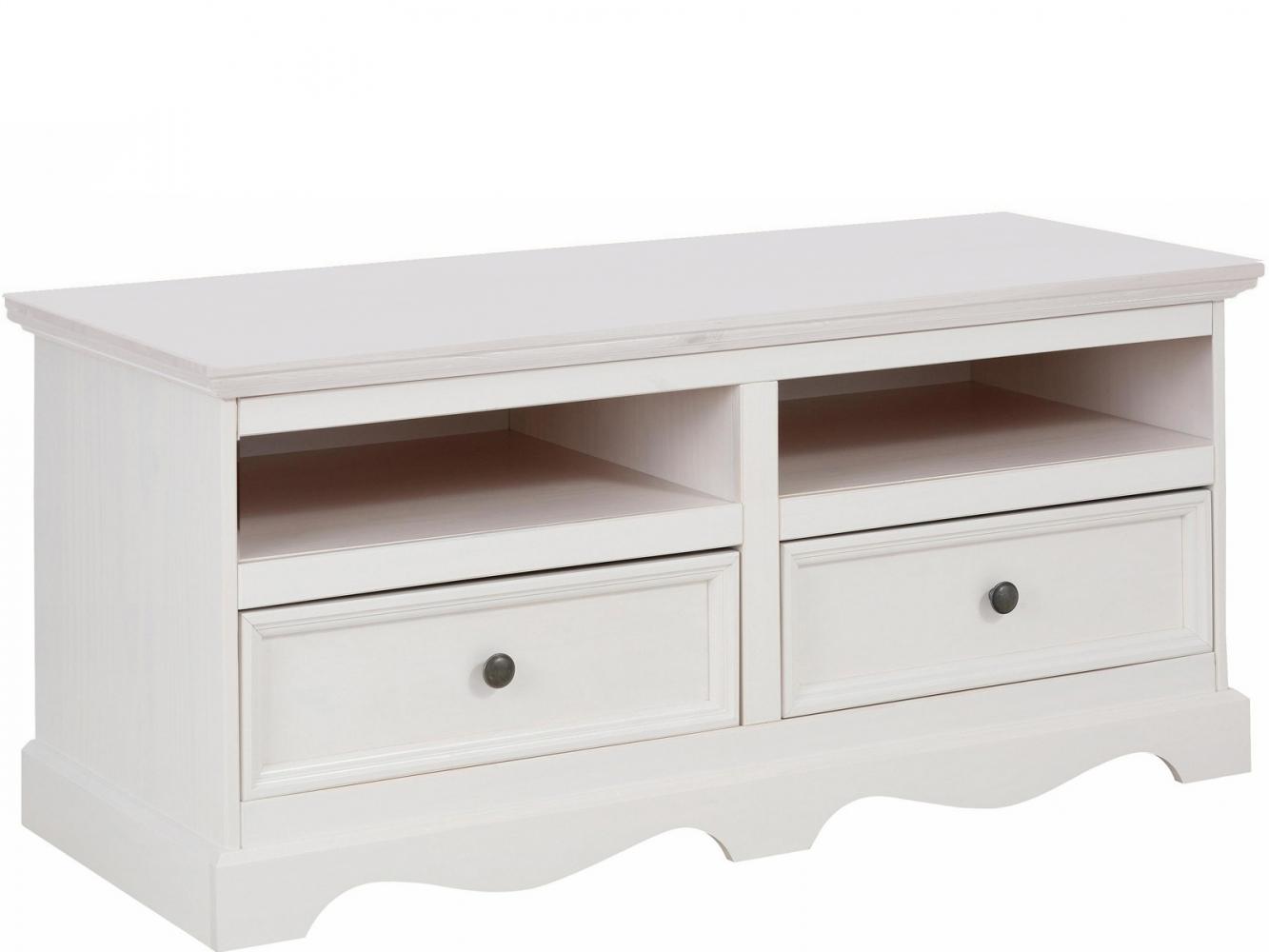 Tv stolek Meliss, 120 cm, bílá