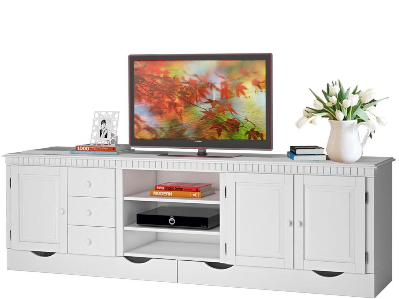 Tv stolek Neo, 220 cm, bílá