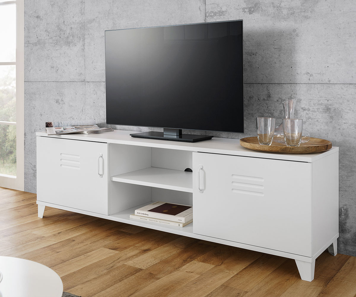 tv stolek s dve mi a polic industry 160 cm design outlet. Black Bedroom Furniture Sets. Home Design Ideas