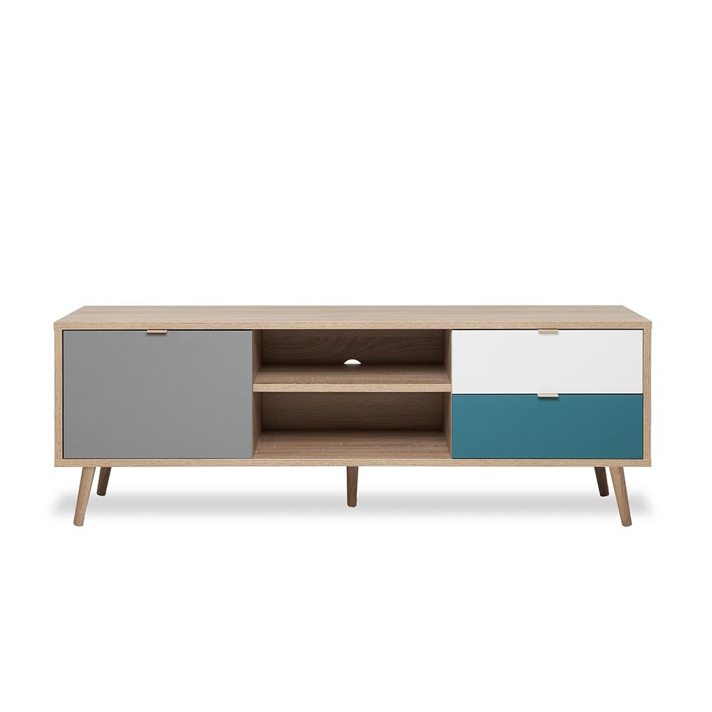 TV stolek s dveřmi a zásuvkami Orlando, 150 cm