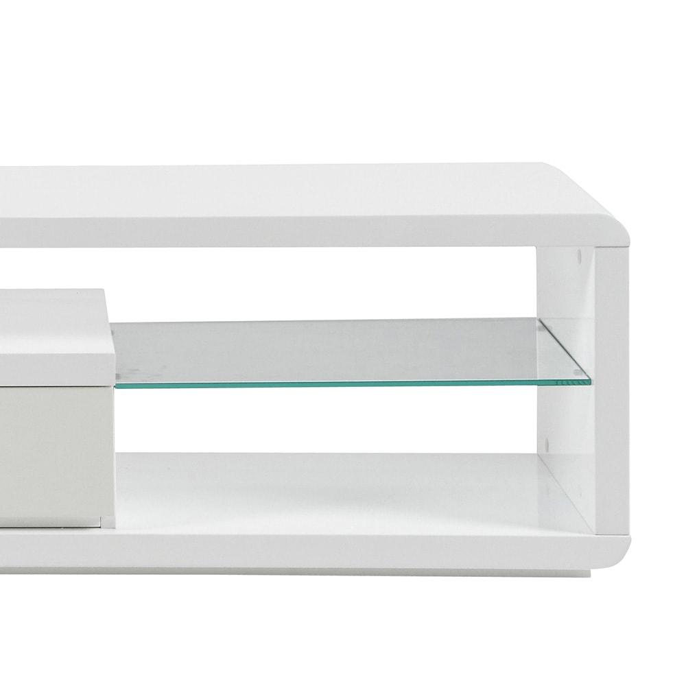 TV stolek s LED diodami Abbey bílá