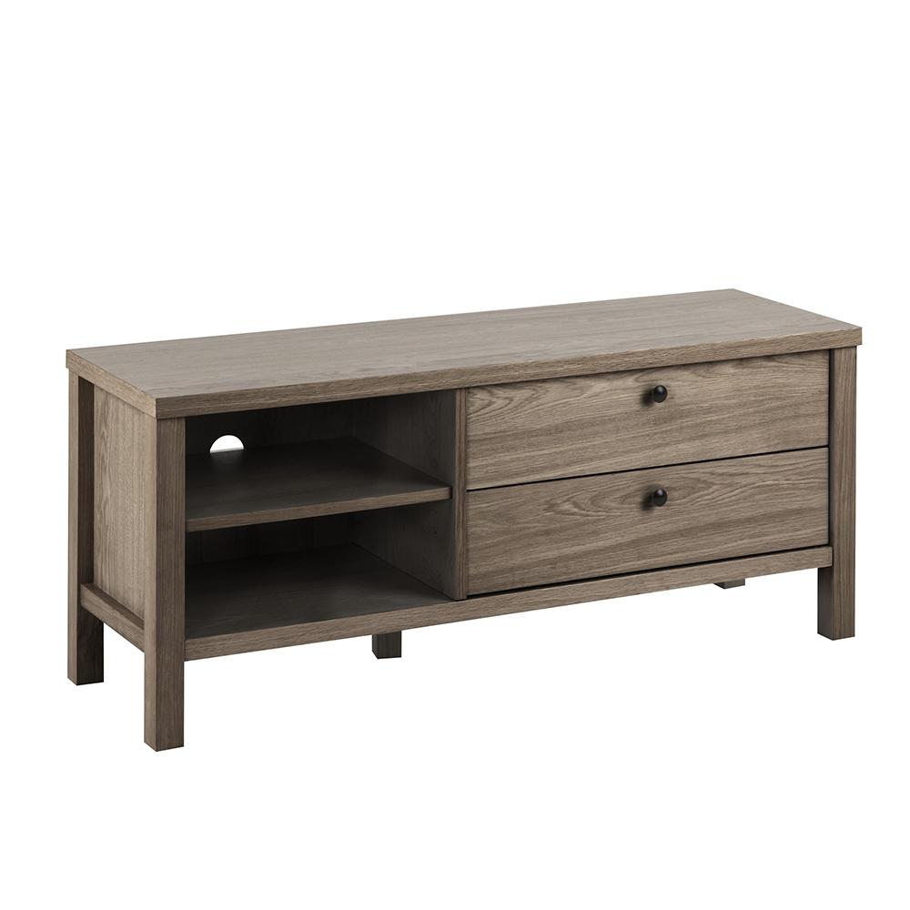 TV stolek se zásuvkami Beata, 120 cm, mořený dub