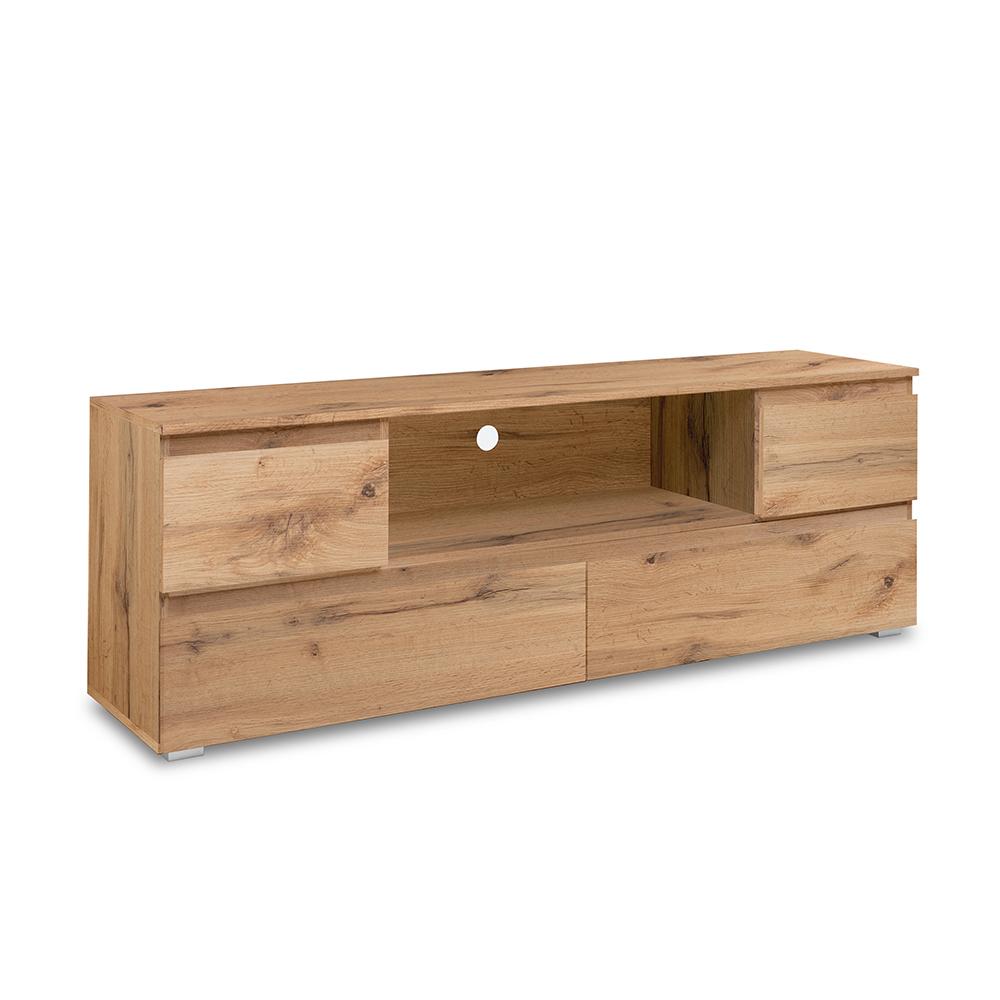 TV stolek se zásuvkami Picture, 160 cm, medový dub