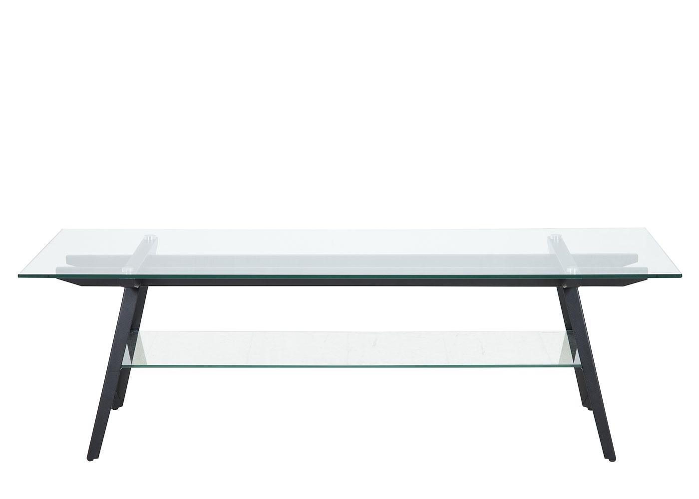 TV stolek skleněný Mayland, 160 cm