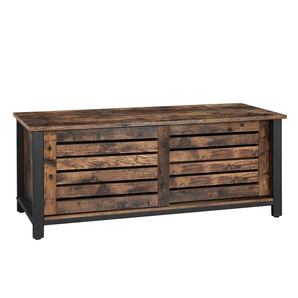 Tv stolek Stella, 110 cm, hnědá / černá