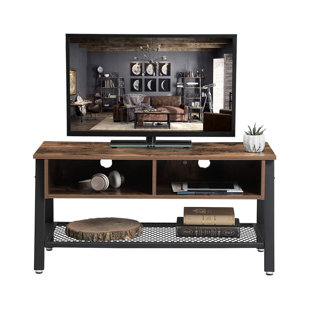 Tv stolek Stella III., 100 cm, hnědá / černá