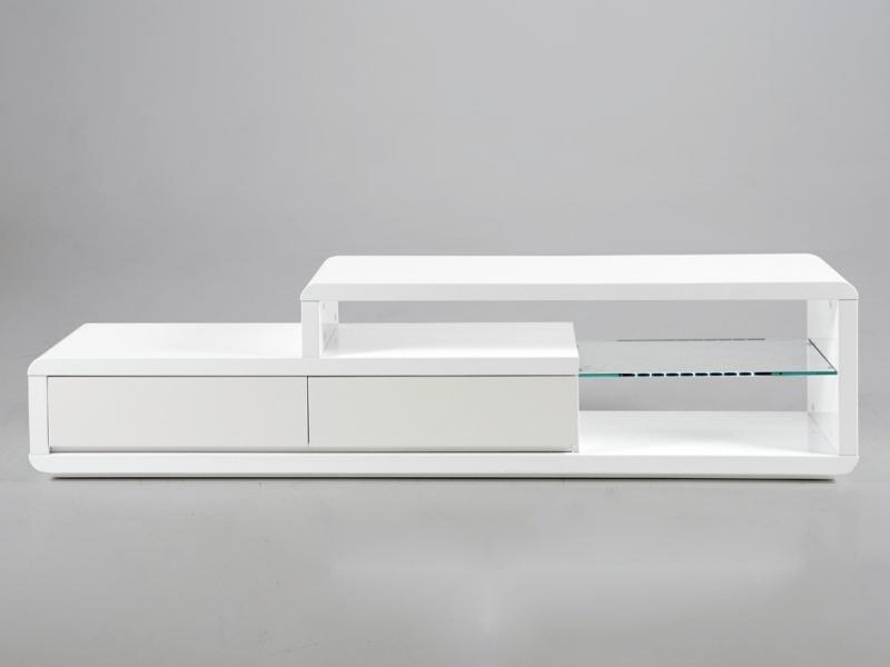TV stolík s LED diódami Abbey biela, biela