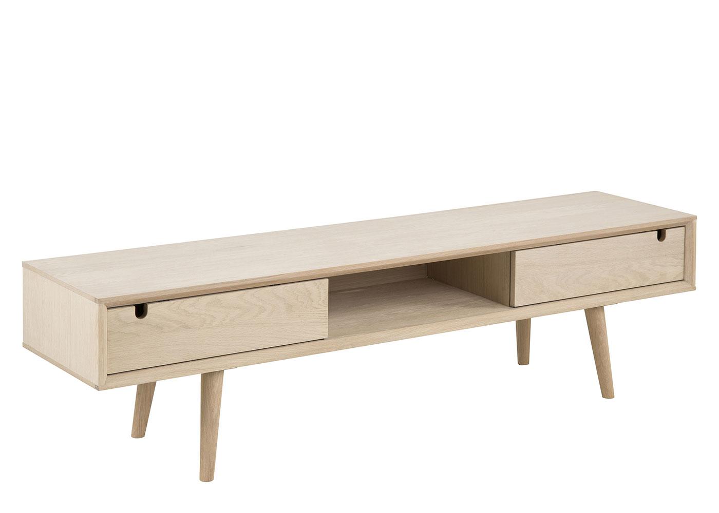 TV stolík so zásuvkami Delica, 160 cm, dub