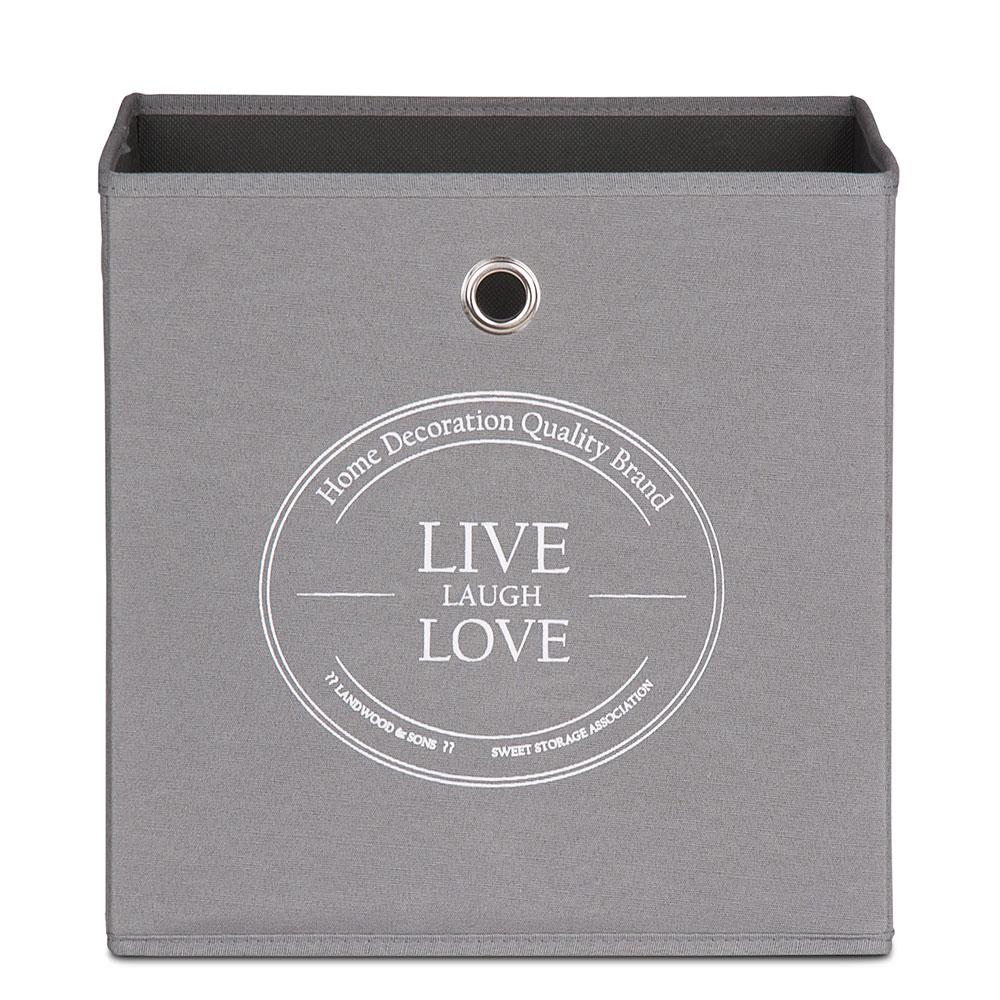 Úložný box Beta 1, 32 cm, Live Laugh Love