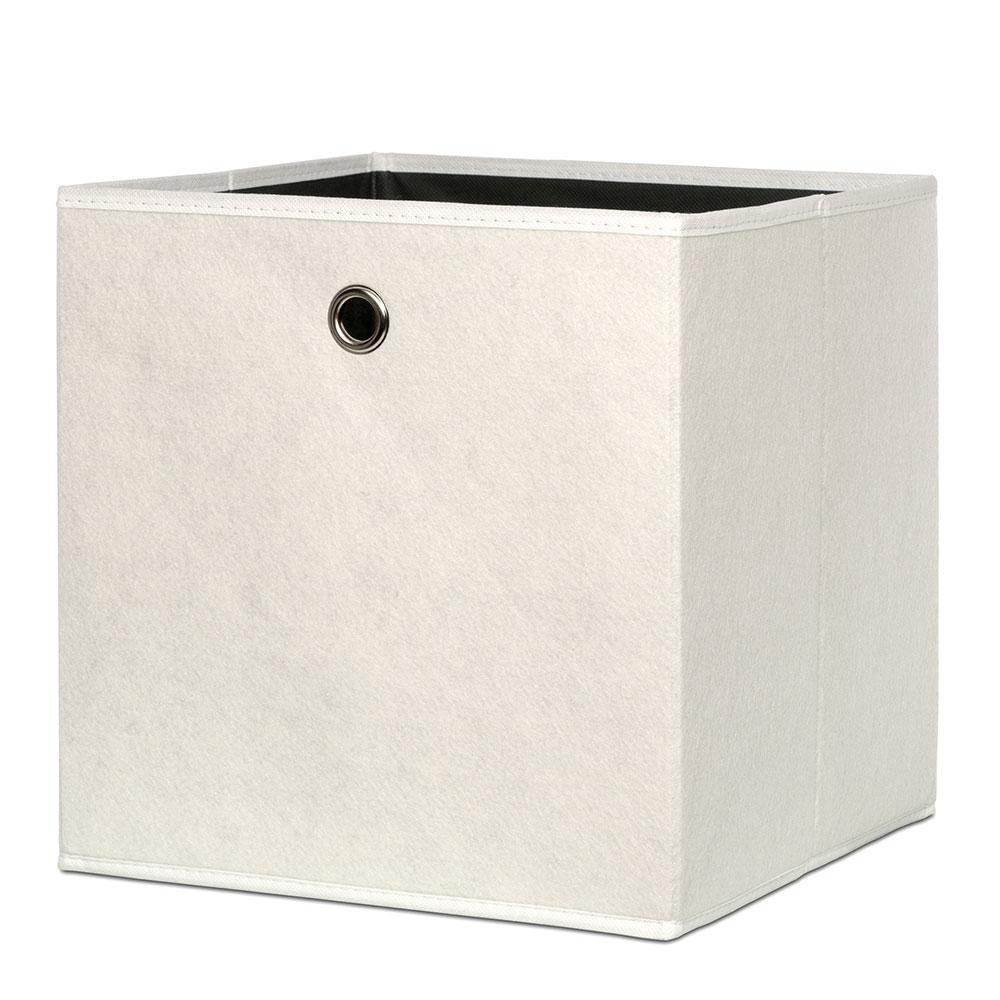 Úložný box Beta 1 dvoubarevný, 32 cm, béžová/antracit