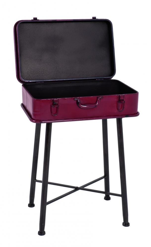 Úložný stolek Rile, 67 cm, červená