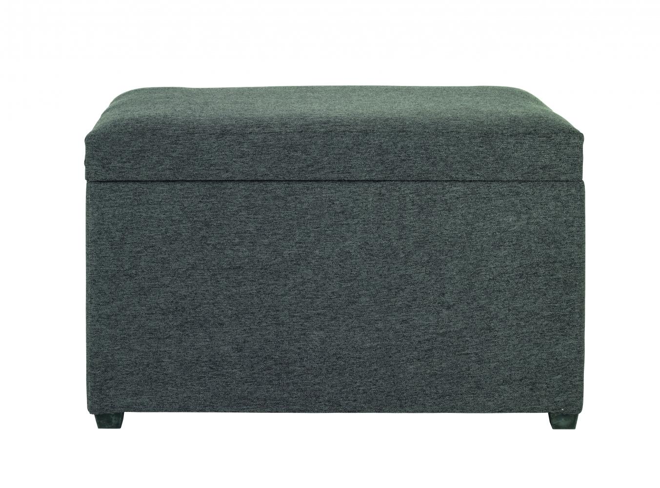 Úložný taburet Monty, 65 cm, tmavě šedá