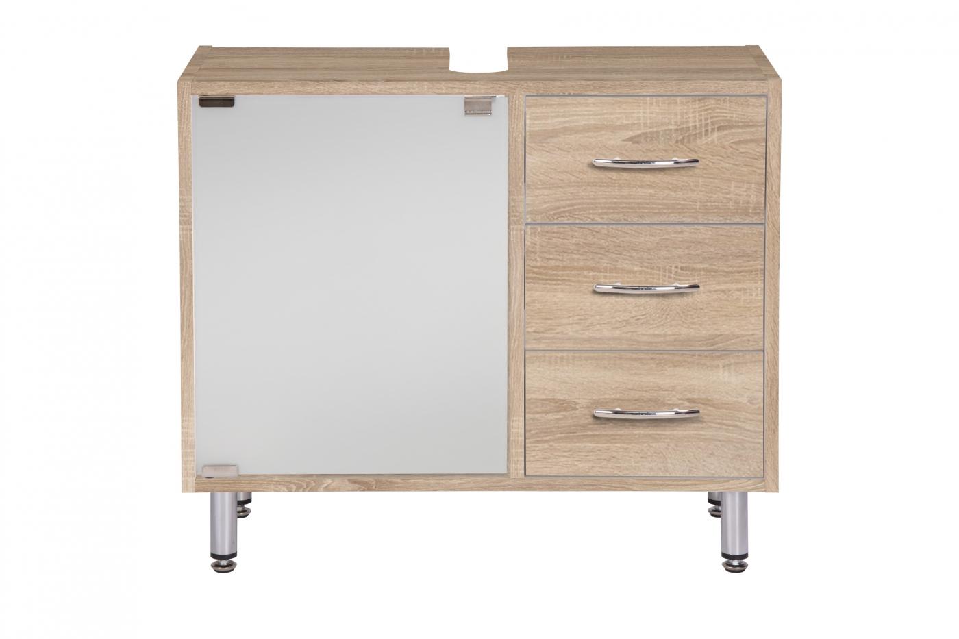 Umyvadlová skříňka Jella, 66 cm, dub Sonoma
