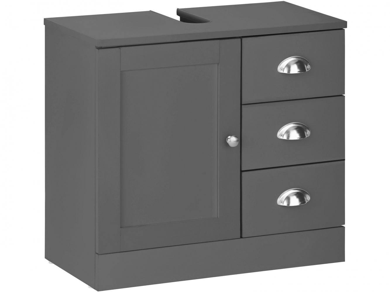 Umyvadlová skříňka Kiley I., 60 cm, šedá