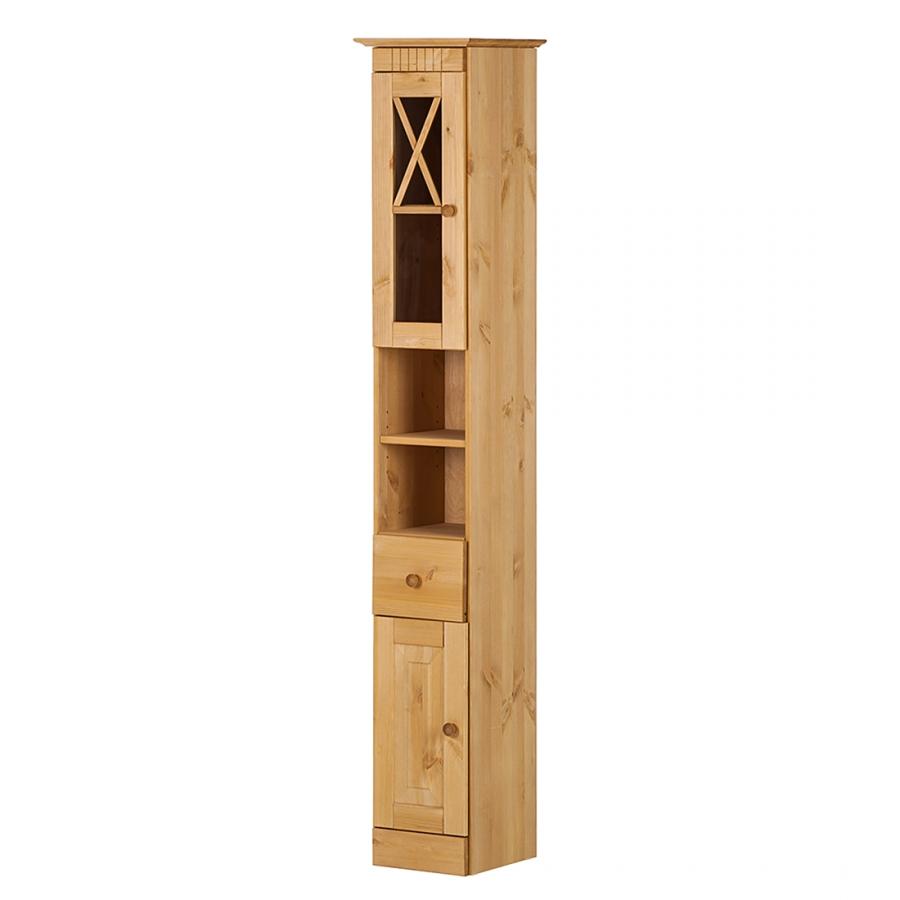 Úzká skříňka Rocia, 176 cm, borovice