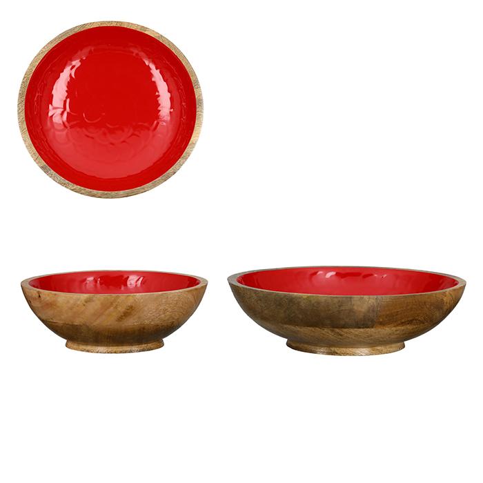 Vánoční dekorativní miska Shell, 25 cm, červená