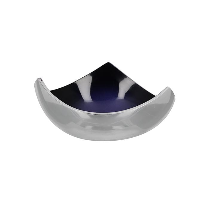 Vánoční dekorativní miska Sula, 12 cm, stříbrná fialová