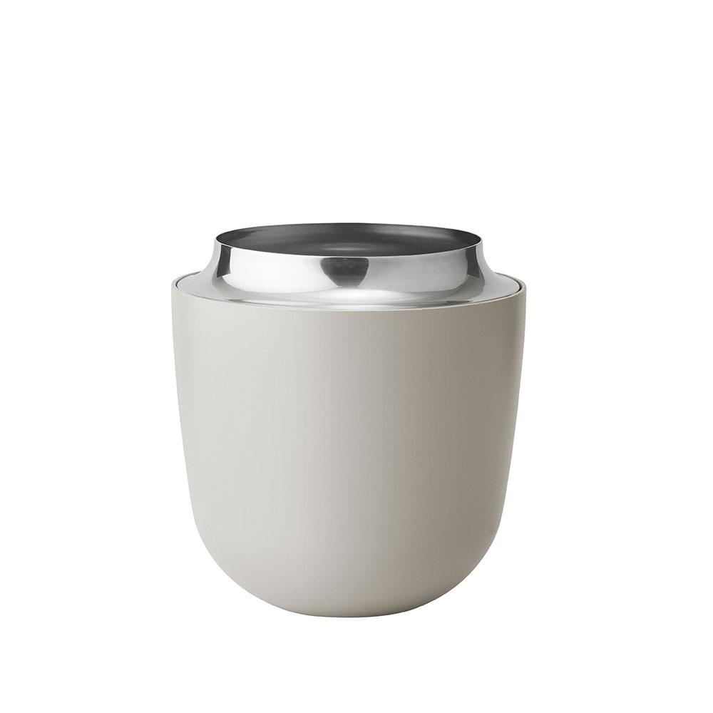 Váza Concave, střední, 16 cm, písková