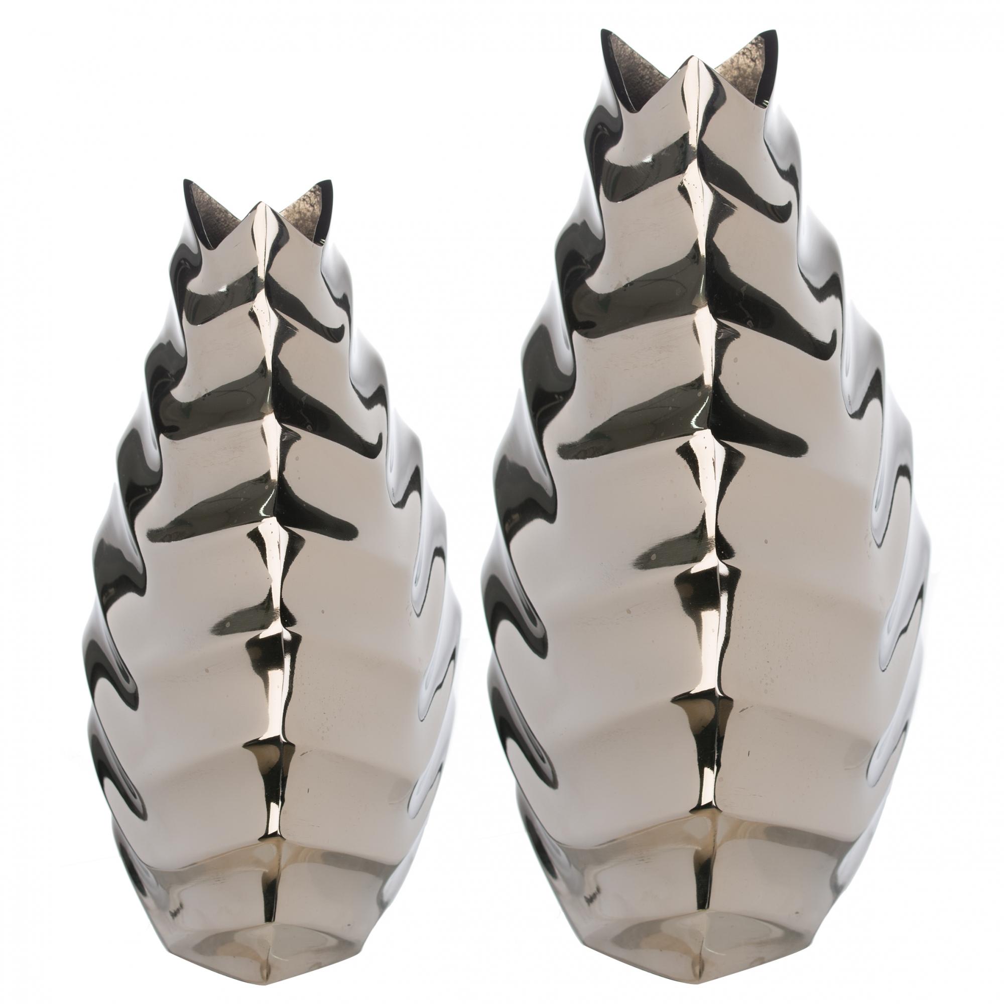 Váza Edon, 34 cm, stříbrná