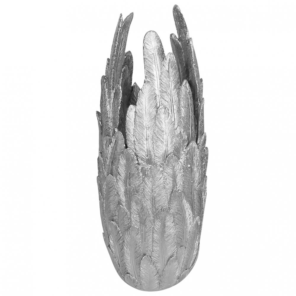 Váza Feath, 80 cm, stříbrná