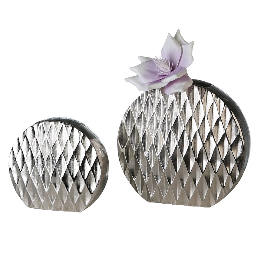 Váza hliníková Diamond, 24 cm
