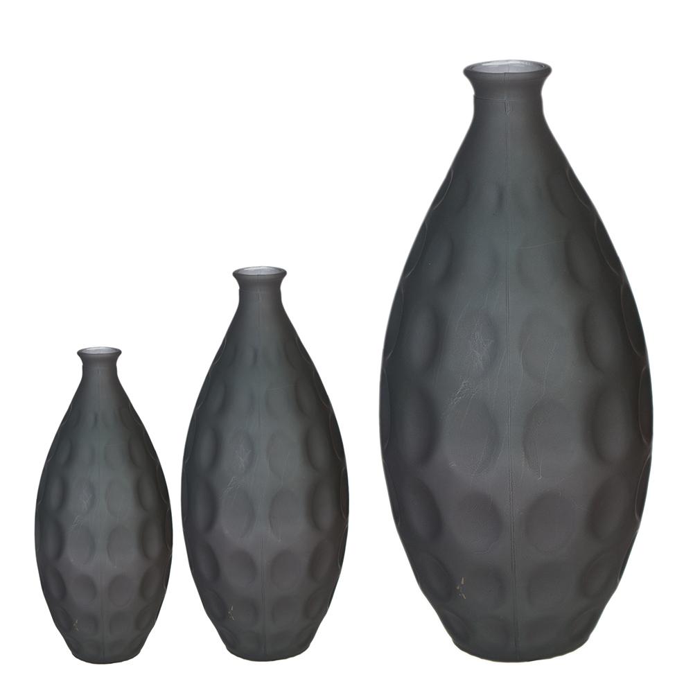 Váza Hugo, 59 cm, šedá