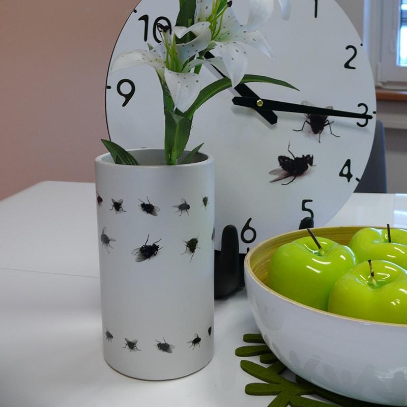 Váza keramická Flies, 18 cm