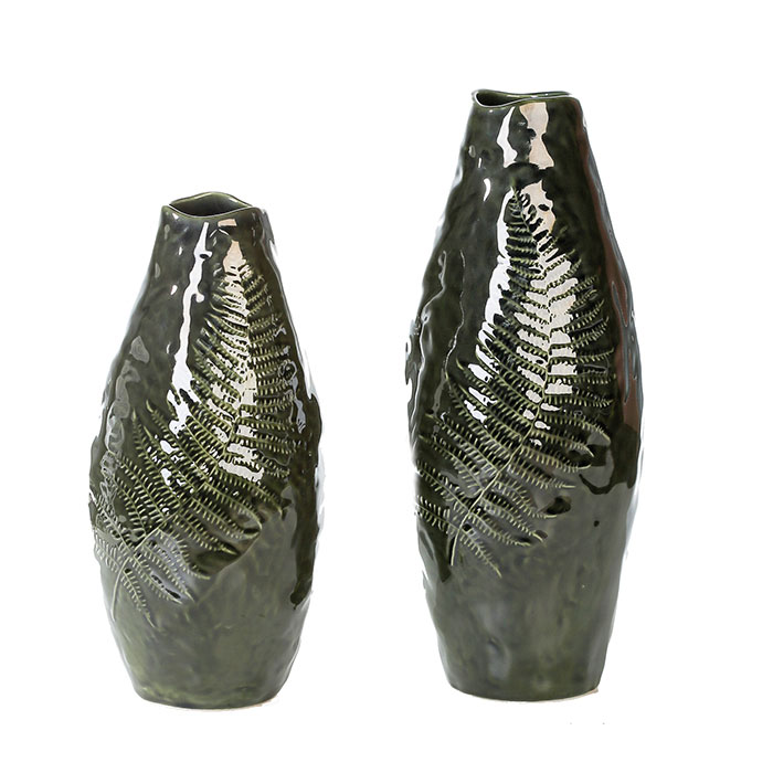 Váza keramická Kapradina, 30 cm