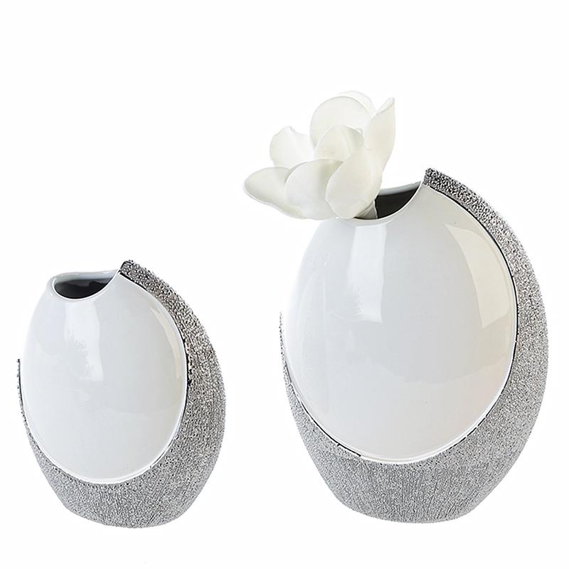 Váza keramická oválná Prime, 19 cm