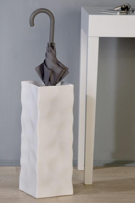 Váza keramická / stojan na deštníky Move bílá