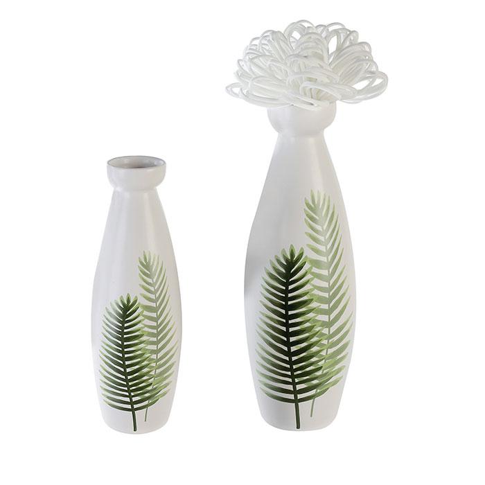 Váza keramická Two Leaves, 26 cm