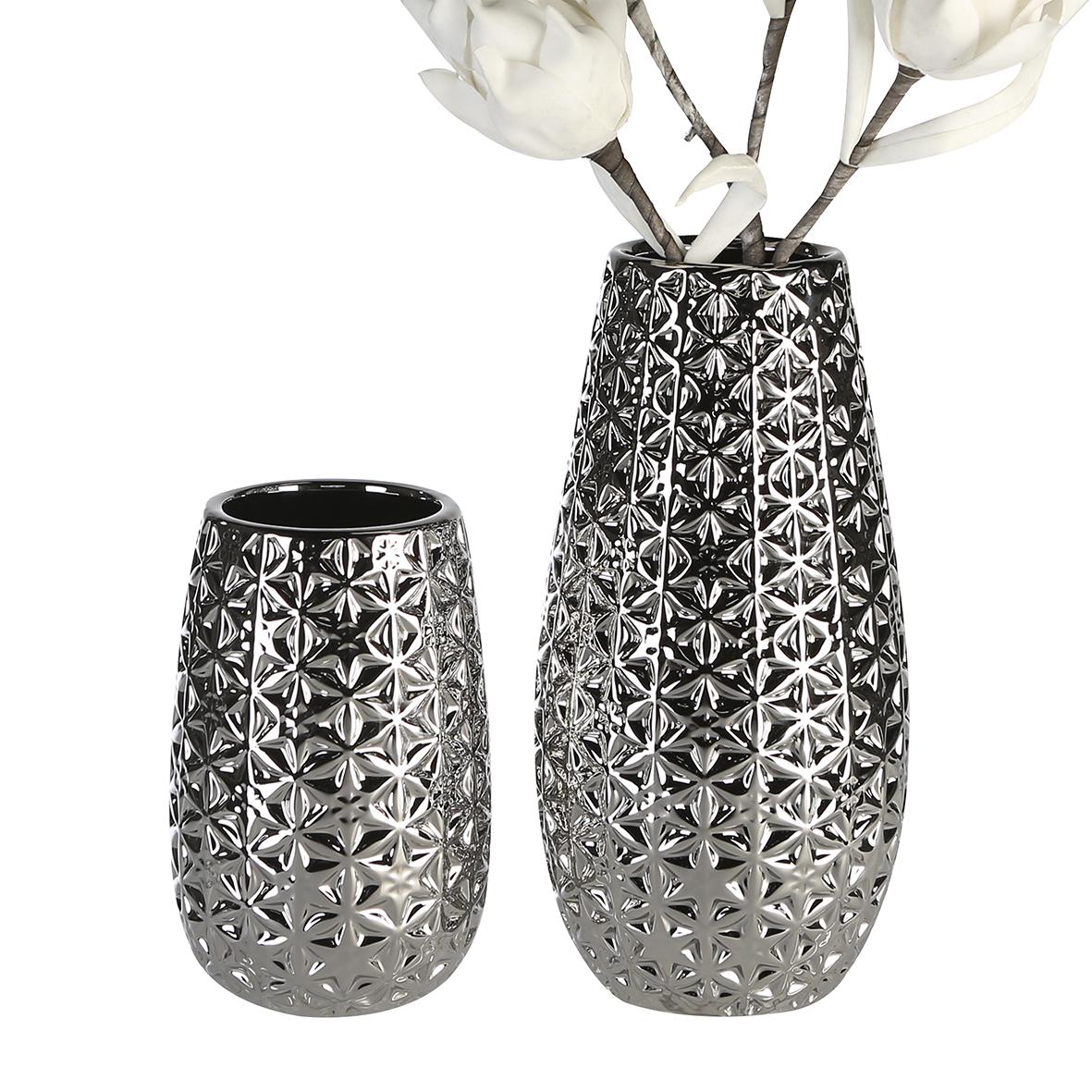 Váza Mali, 20 cm, stříbrná