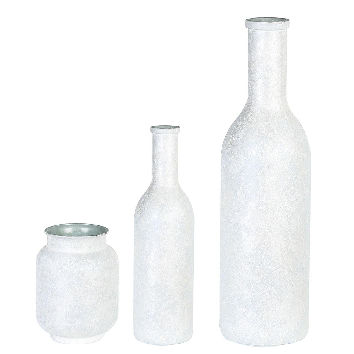 Váza Myra, 50 cm, bílá / stříbrná