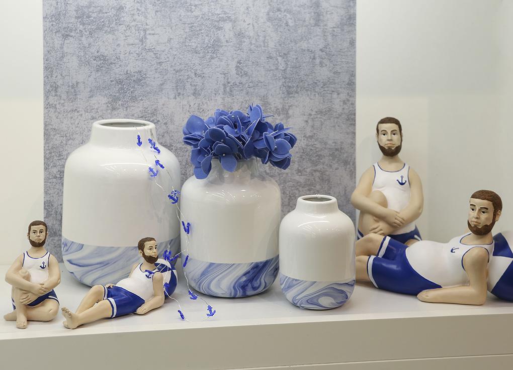 Váza porcelánová Blue, 26 cm