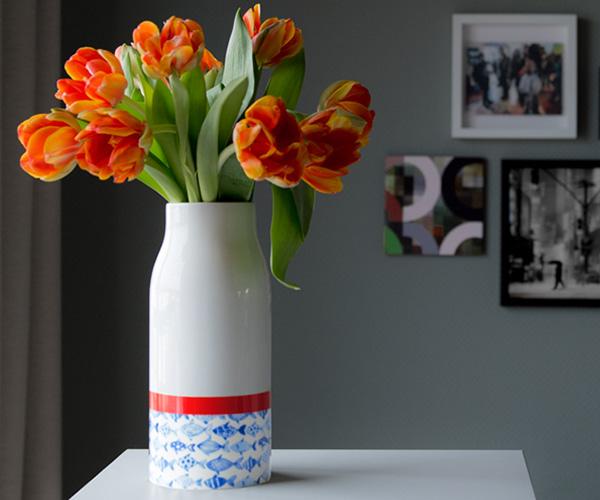 Váza porcelánová Fish, 25,5 cm