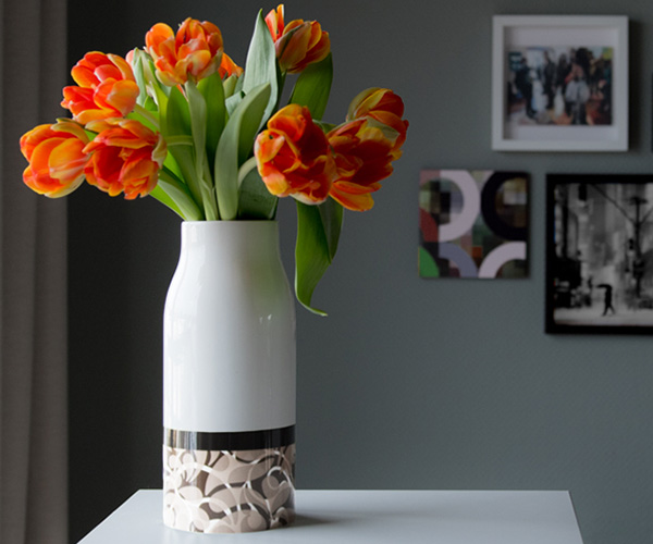 Váza porcelánová Florina, 25,5 cm