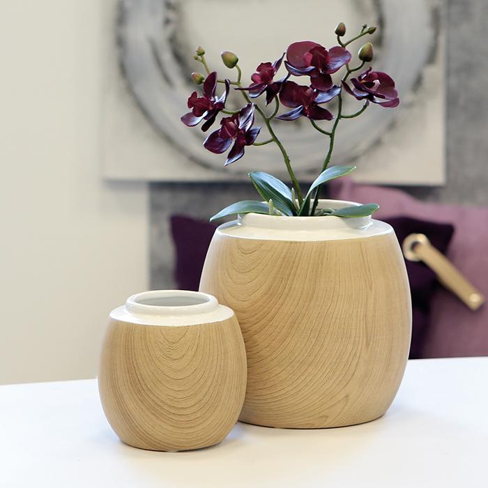 Váza porcelánová Madera, 13 cm