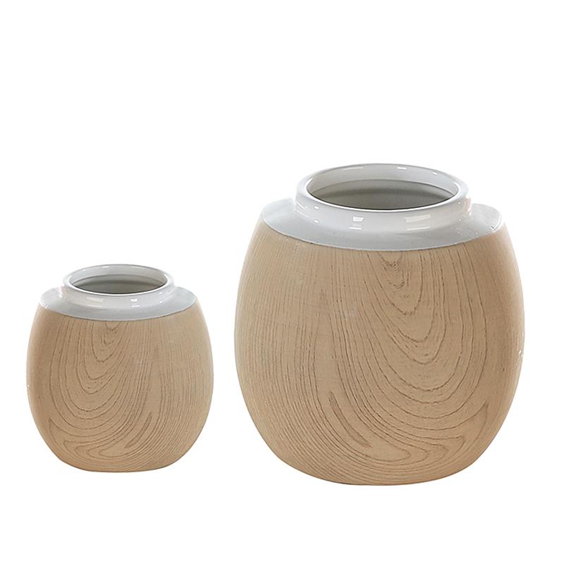 Váza porcelánová Madera, 19 cm