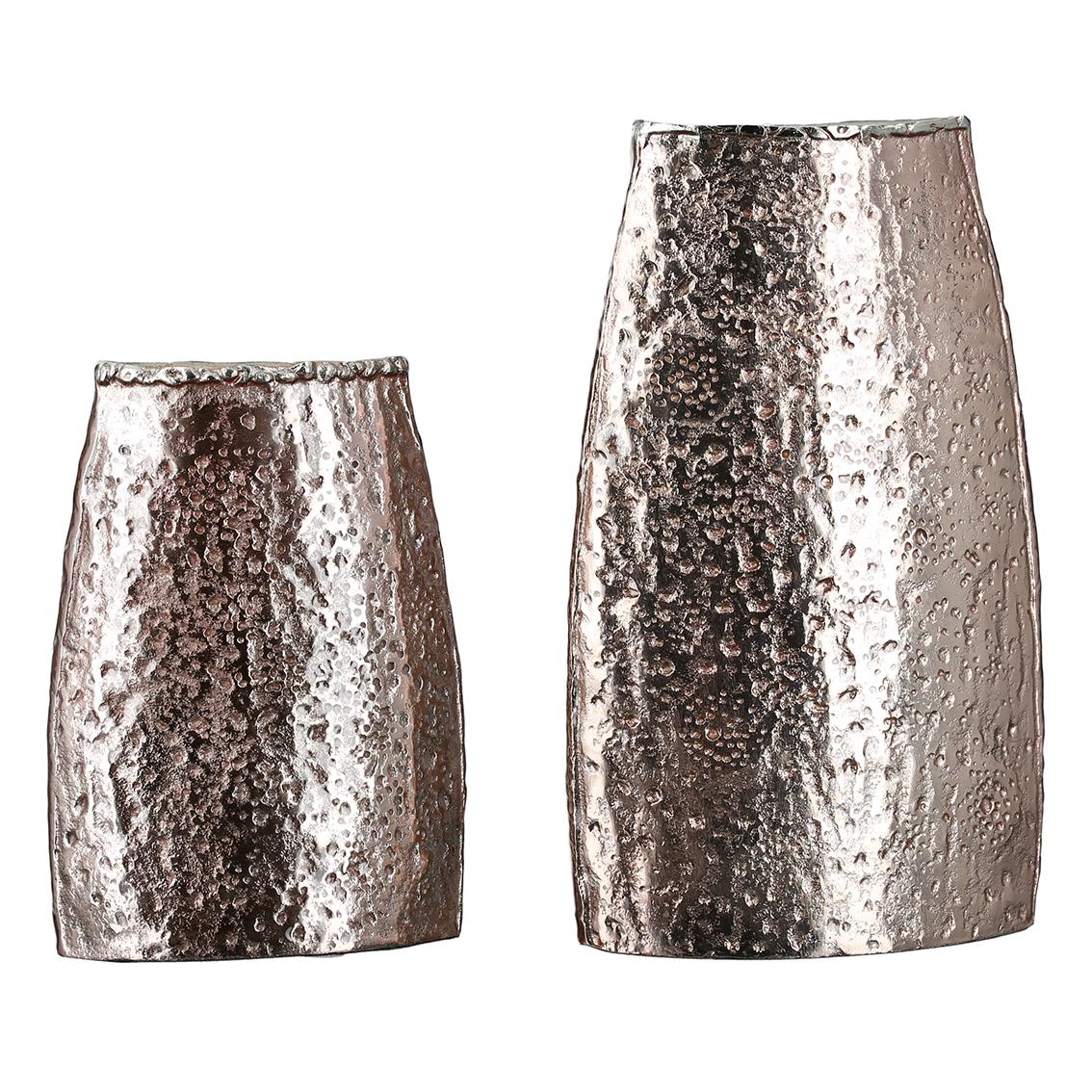 Váza Rock, 19 cm, růžová / zlatá