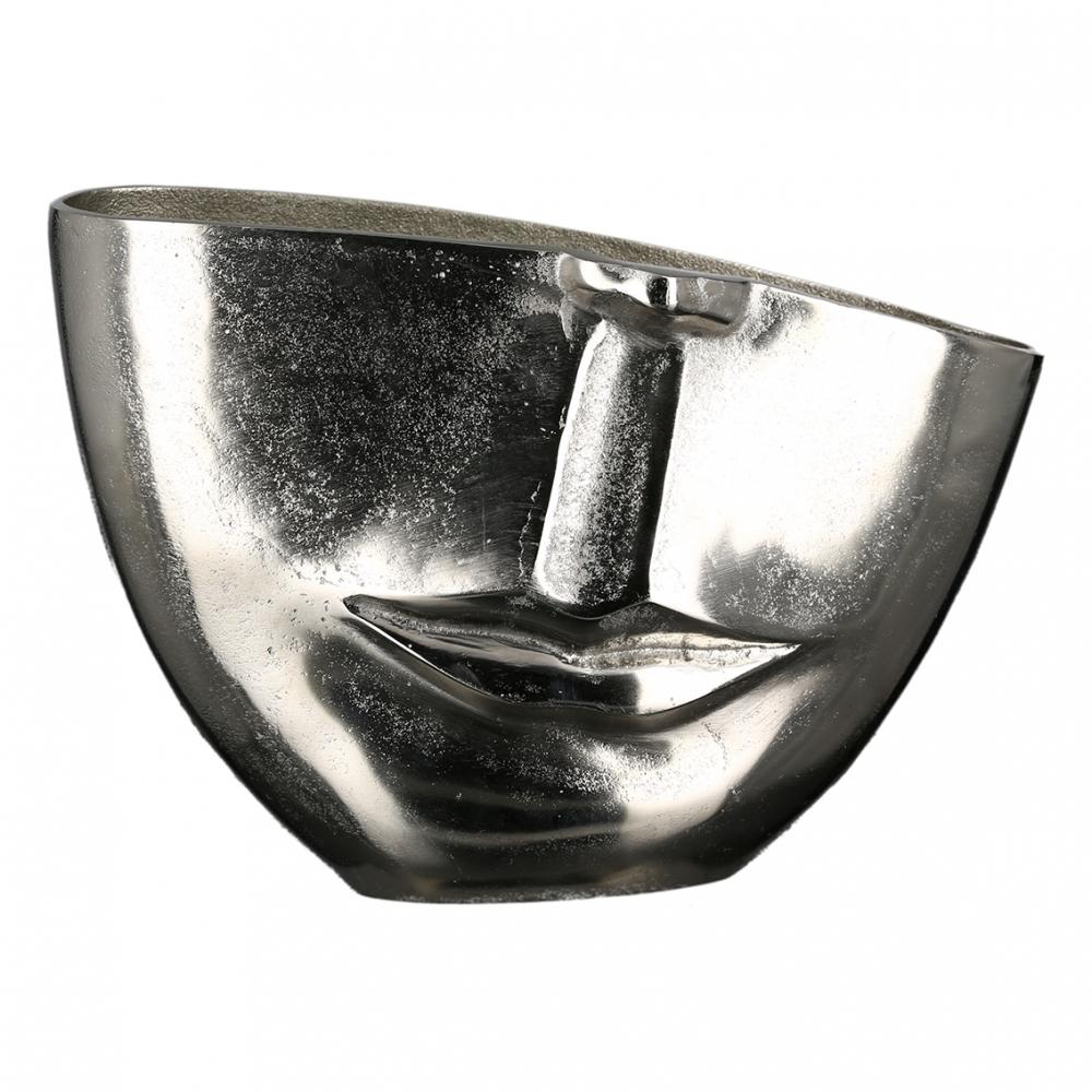 Váza Vision, 30 cm, stříbrná