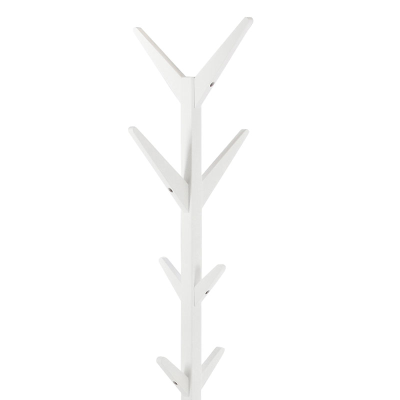 Věšák dřevěný Scotty, 178 cm, bílá